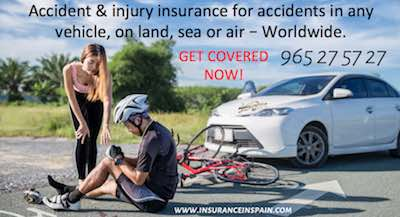 Vehicle accident and injury insurance in Spain