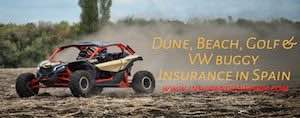 Beach buggy, dune buggy, golf buggy and VW buggy insurance in Spain,