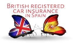 Cheap English registered car insurance in Spain, UK plated car insurance