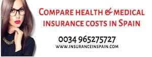 Compare health and medical insurance costs in Spain
