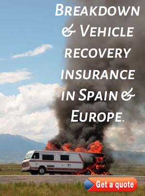 breakdown recovery insurance for motorhomes campers and camper vans in spain
