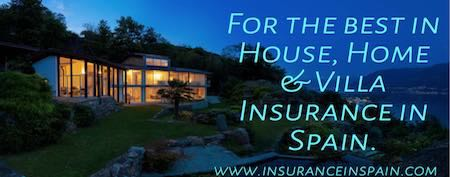 house home and holiday home insurance Spain + contents insurance