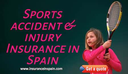 sports insurance in spain for tennis, watersports, hobbies riding and walking insurance