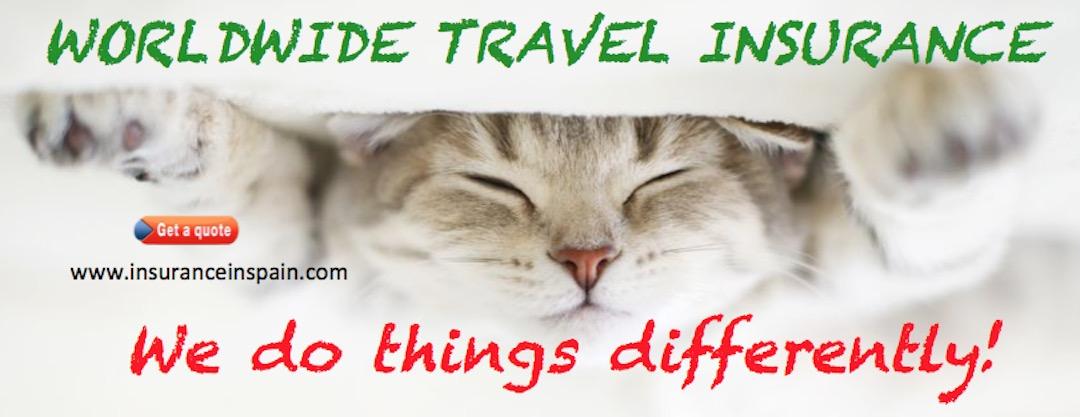 Worldwide, international travel insurance, Spain, Portugal, Gibraltar,, UK, Europe