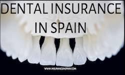 Dental impression in white advertising dental insurance in Spain