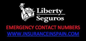 Motorhome, campervan and RV breakdown emergency telephone numbers for Liberty Seguros Spain
