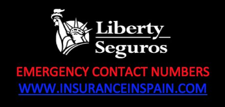 Emergency contact details for Liberty Seguros breakdown and recovery services for car insurance in Spain