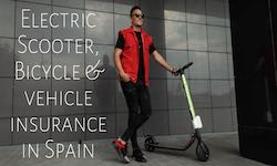 Electric scooter bicycle and vehicle insurance in Spain