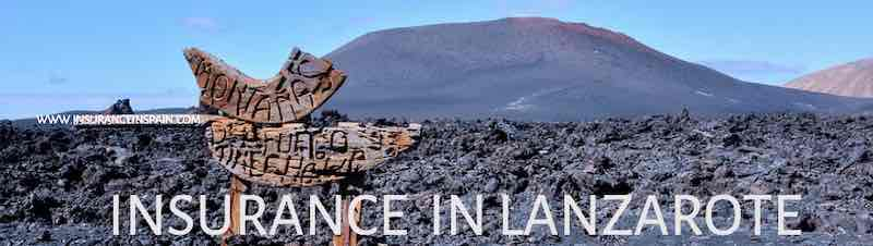 Vovlcanic view of island of Lanzarote for Insurance