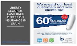 Liberty Seguros Cash Back Discounts on insurance in spain