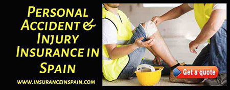 accident and injury insurance in spain private personal, activity insurance