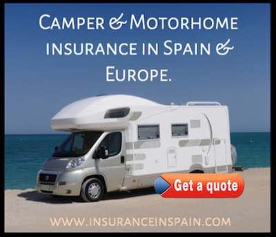insurance in spain for camper vans, campers and motorhomes