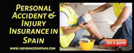 accident and injury insurance in spain for fails